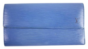 Louis Vuitton Blue Ep Sarah 163634 14LVTY914 Long Wallet