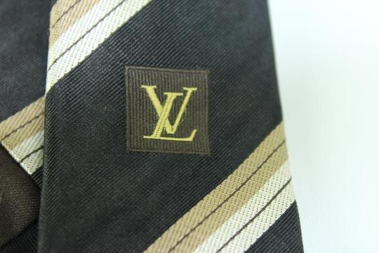 Louis Vuitton Black LV Diagonal Strip Tie TELM7 Image 3
