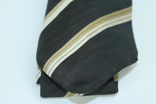 Louis Vuitton Black LV Diagonal Strip Tie TELM7 Image 5