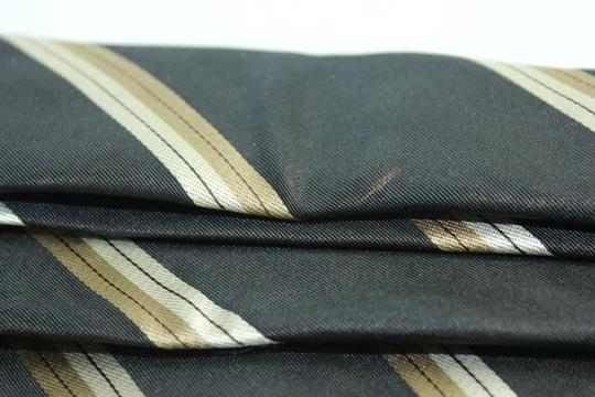 Louis Vuitton Black LV Diagonal Strip Tie TELM7 Image 6