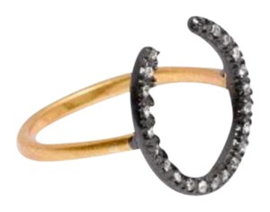 Madewell horseshoe pave ring