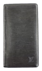 Louis Vuitton Black Epi Leather Wallet Brazza ELVLM50
