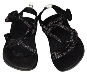Chaco Black and White Sandals