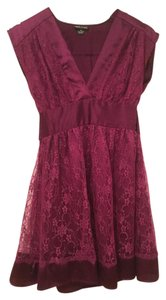 Wet Seal short dress Purple Lace Plunge Short Party on Tradesy