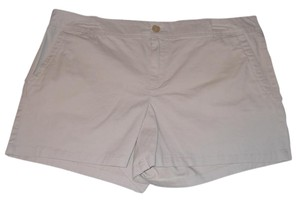 Liz Claiborne Chino Flat Front Dress Shorts Khaki