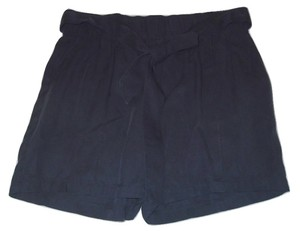 Liz Claiborne Navy Flat Front Dress Shorts Blue