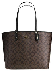Coach Valentine's Day Gift Beach 36658 Reversible Tote in Brown/Black