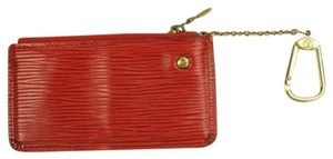 Louis Vuitton Red Epi Leather Coin Purse with Key Ring ELVLM45