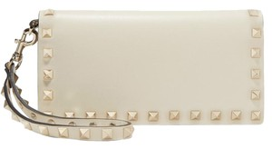 Valentino New Valentino Rockstud Leather Wallet Wrislet