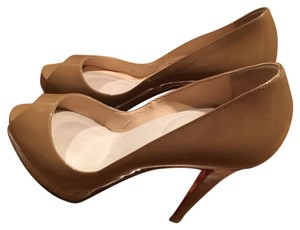 Christian Louboutin light brown Platforms
