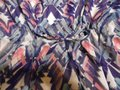 Forever 21 Purple Blue White Teal Abstract Print Loose Batwing Dolman Sheer Lined Short Casual Dress Size 8 (M) Forever 21 Purple Blue White Teal Abstract Print Loose Batwing Dolman Sheer Lined Short Casual Dress Size 8 (M) Image 3