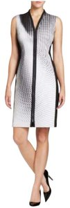 T Tahari Illusion Sleeveless Work Dress