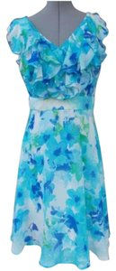 Polo Ralph Lauren Ruffle V-neck Sleeveless Floral Dress