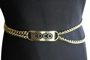 "Chanel Authentic Vintage Chanel Rose Gold Plated ""COCO"" Belt"