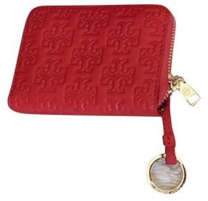 Tory Burch BRAND NEW TORY BURCH EMBOSSED-T ZIP COIN PURSE