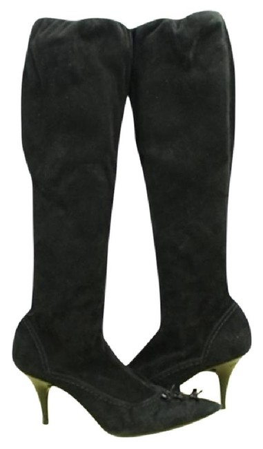 Item - Black Suede Knee High Lvblm110 Boots/Booties Size US 6 Narrow (Aa, N)