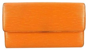 Louis Vuitton Orange Epi Sarah Wallet ELVLM37 B#172973