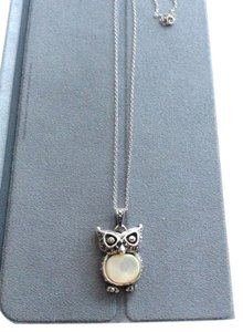 Other Sterling Silver Owl Necklace