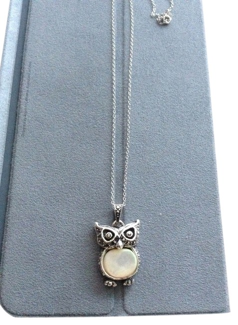 Silver Sterling Owl Necklace Silver Sterling Owl Necklace Image 1