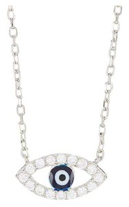 Argento Vivo sterling silver evil eye pendant necklace