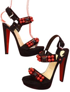 Christian Louboutin Black/Silver/Red Pumps