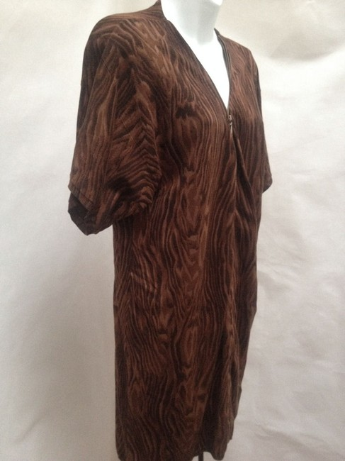 Vivienne Tam short dress Brown Shirt Animal Print on Tradesy Image 1