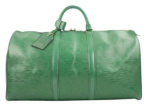 Louis Vuitton green Travel Bag