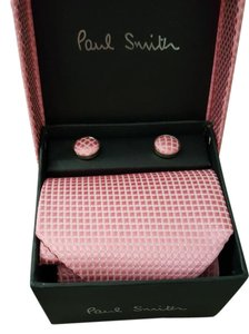 Paul Smith $235 NEW in box tie and cufflinks gift box