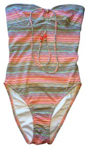 Shoshanna Shoshanna Multi-color Coral Beaded One-Piece Swimsuit Size S/B