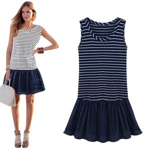 short dress Navy Blue on Tradesy