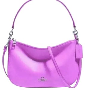 Coach Wildflower Pink Calf Leather Cross Body Bag
