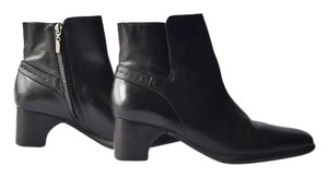 Cole Haan Leather Ankle Dress Side Zip Black Boots