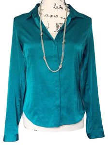 Guess Button Down Shirt Emerald Green