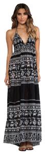Printed - Black, White/Gray Maxi Dress by Free People Maxi