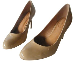 Corso Como Patent Leather Leather Lining Leater Insoles Perforated Camel Pumps