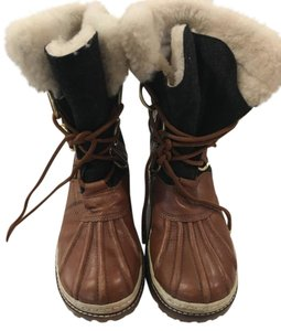 Tory Burch Brown and Grey Boots