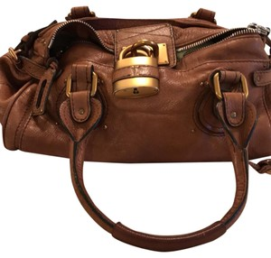 Chloé Chloe Brown Paddington Brown Leather Satchel in light brown