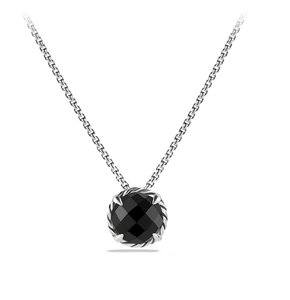David Yurman Chatelaine Pendant Necklace with Black Onyx