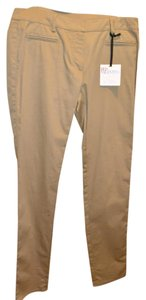 RED Valentino Valentino Womens Khaki Slim Fit Made In Italy Skinny Pants