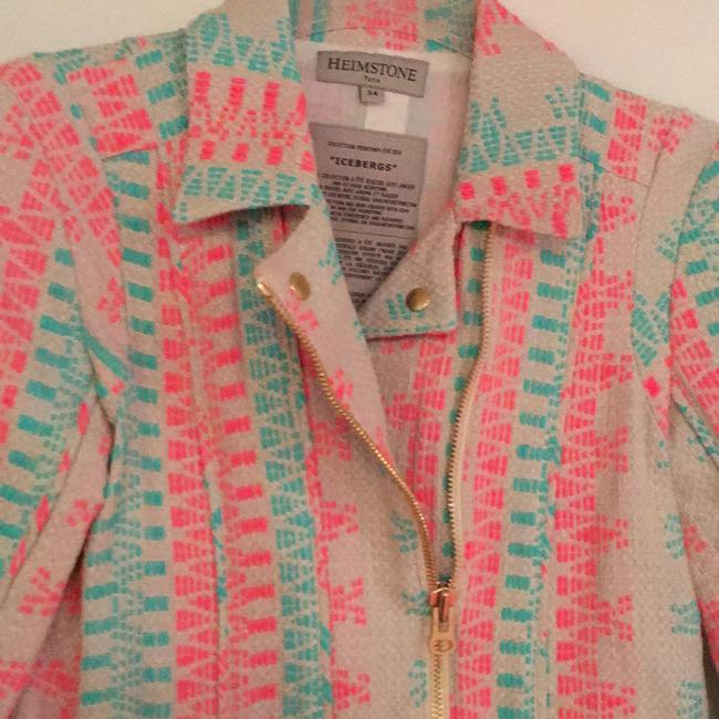 Heimstone Paris beige with pink and turquoise Blazer Image 1