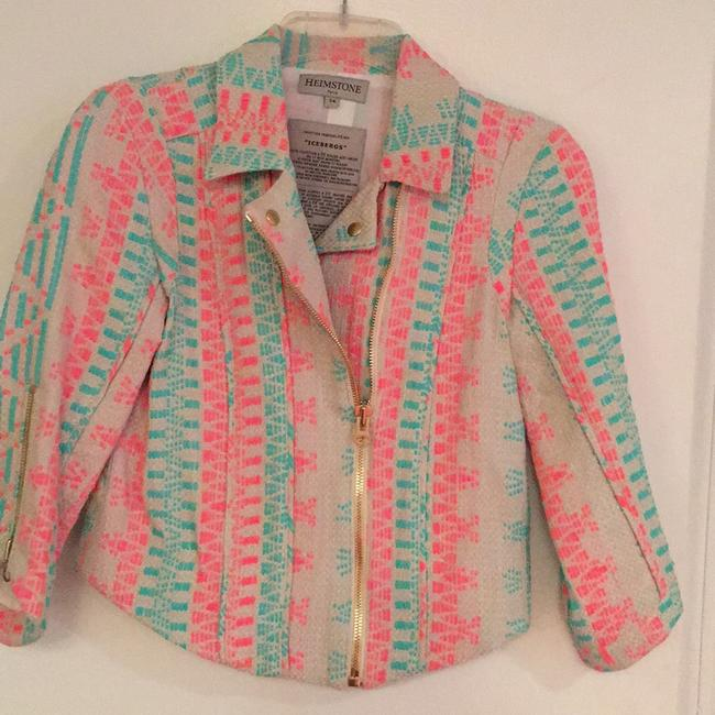 Heimstone Paris beige with pink and turquoise Blazer Image 2