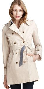 DKNY Midweight Lined Machine Washable Trench Trench Coat