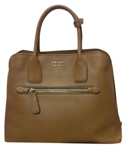 Prada Saffiano Louis Vuitton Hermes Satchel in Brown/caramel