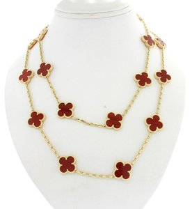 Van Cleef & Arpels Van Cleef & Arpels Alhambra 20 Motifs 18k Yellow Gold Necklace