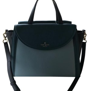 Kate Spade Satchel in black, deep teal, blue