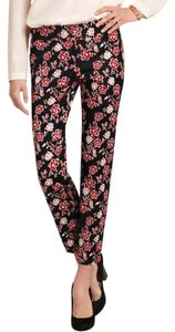 Ann Taylor Shantung Ankle Floral Slim Straight Pants