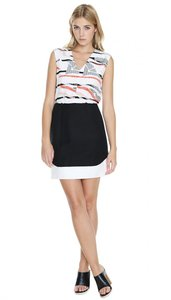 Tibi short dress Black Print on Tradesy