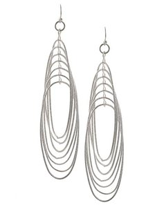 Other Rhodiumized Silver Dangle Earring Set