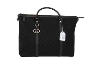 Gucci 339550 Tote Travel Tote Travel Chocolate Brown Travel Bag