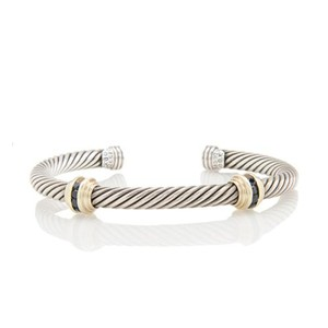 David Yurman Cable Classics Double-Station Bracelet with Sapphires, 5mm